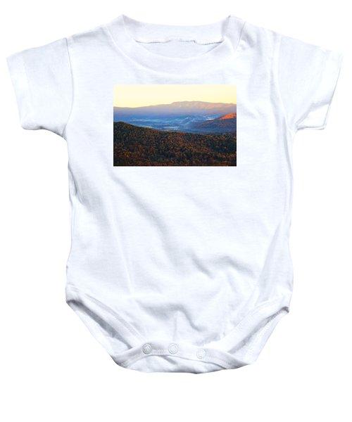 Autumn Mountains  Baby Onesie