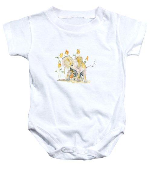 Baby Elephant 3 Baby Onesie