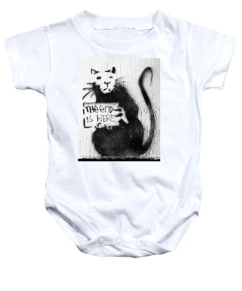 Banksy Rat The End Is Here Baby Onesie