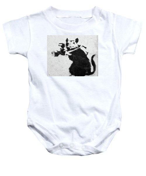 Banksy Rat With Camera Baby Onesie