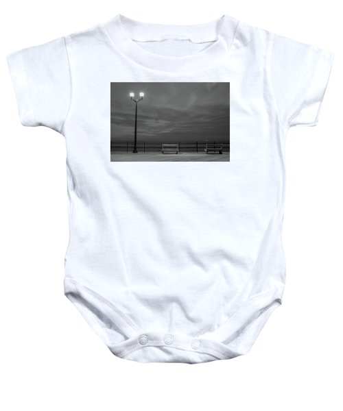 Before Dawn On The Boards Baby Onesie