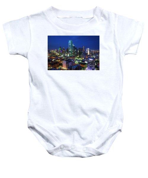 Dallas Skyline Baby Onesie