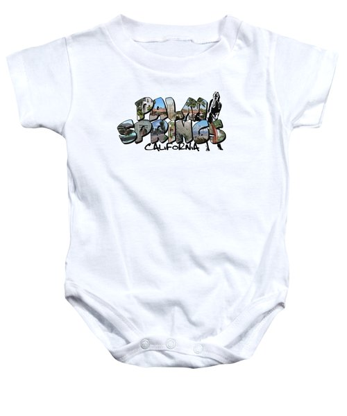 Big Letter Palm Springs California Baby Onesie