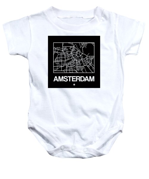 Black Map Of Amsterdam Baby Onesie