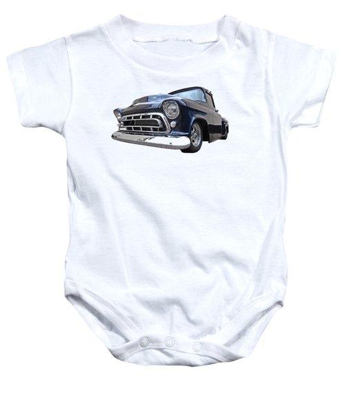 Blue 57 Stepside Chevy Baby Onesie