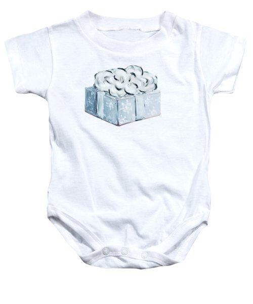 Blue Present Baby Onesie