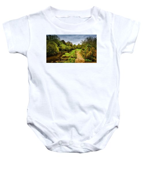 Bridge With Falling Colors Baby Onesie