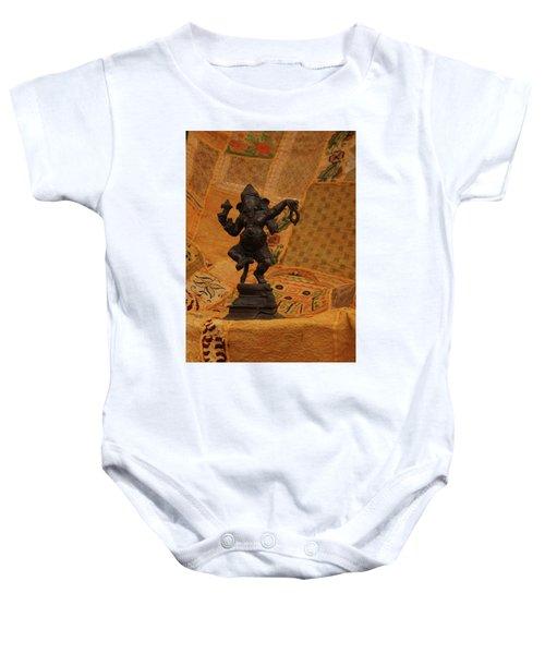 Bronze Ganesha Dancing Baby Onesie