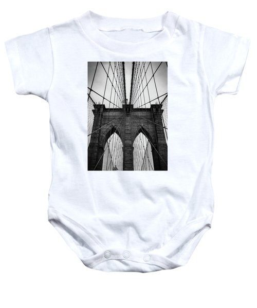 Brooklyn Bridge Wall Art Baby Onesie
