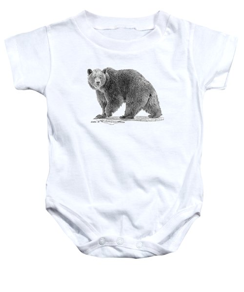 Brown Black And White Baby Onesie