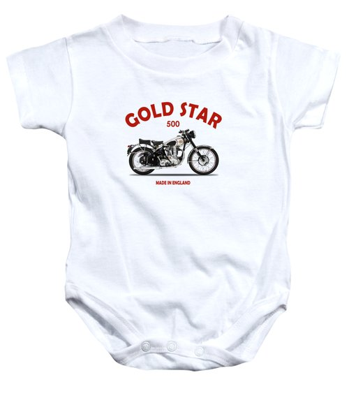 Bsa Gold Star 1952 Baby Onesie