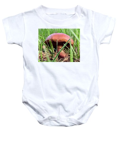 Bug On Boletus Edulis Baby Onesie