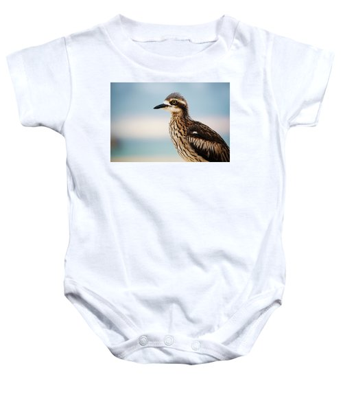 Bush Stone-curlew Resting On The Beach. Baby Onesie