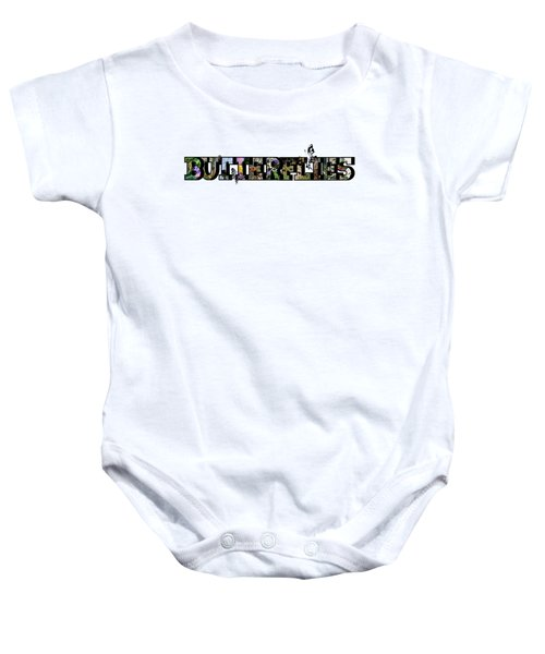 Butterflies Large Letter Baby Onesie
