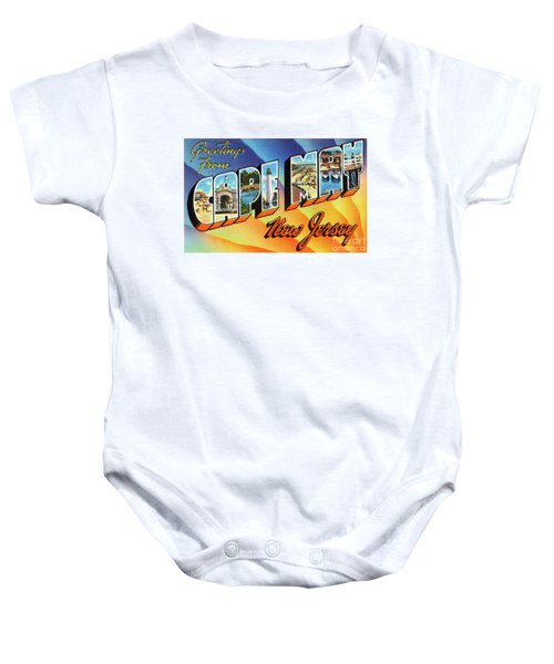 Cape May Greetings - Version 1 Baby Onesie