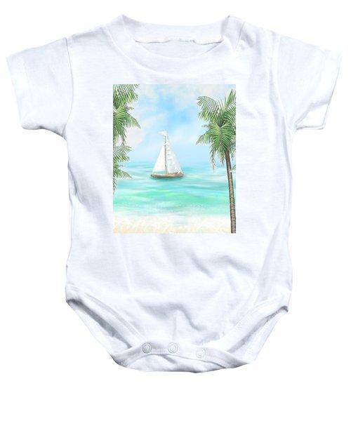 Carribean Bay Baby Onesie