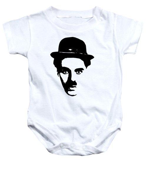 Charlie Chaplin Minimalistic Pop Art Baby Onesie