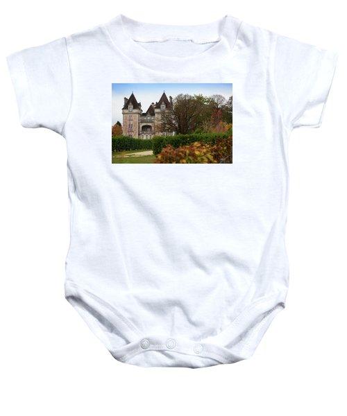 Chateau, Near Beynac, France Baby Onesie