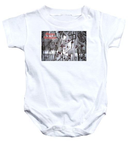 Cherry Blossoms In Snow Baby Onesie