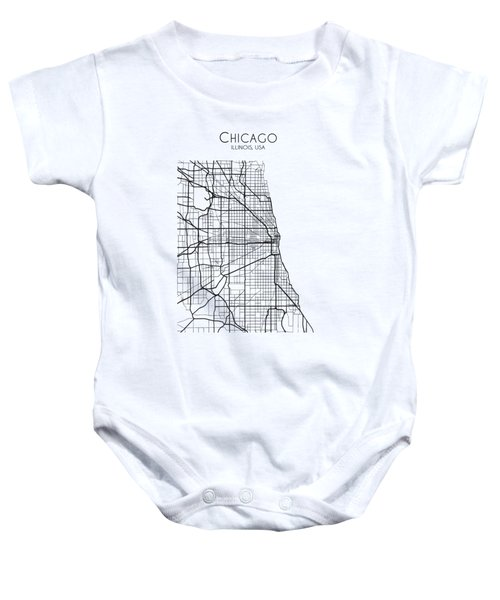 Chicago City Street Map Baby Onesie
