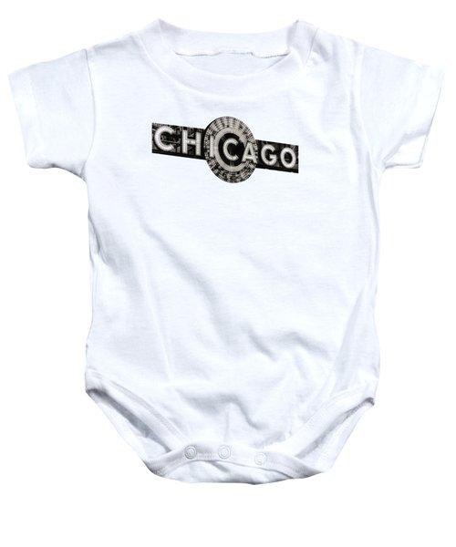 Chicago Theater Marquee - T-shirt Baby Onesie