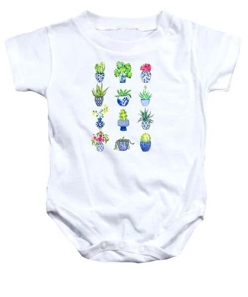 Chinoiserie Cactus Collection Baby Onesie