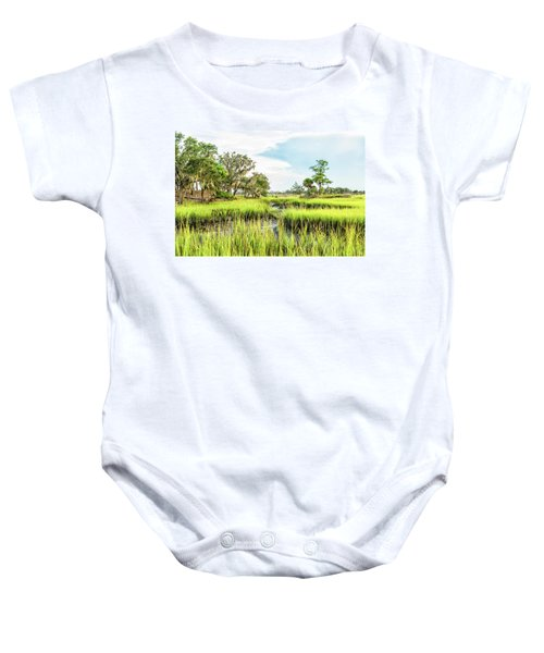 Chisolm Island - Marsh At Low Tide Baby Onesie