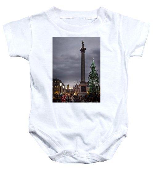 Christmas In Trafalgar Square, London Baby Onesie