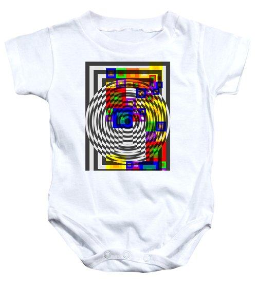 Circular Colour Fusion  Baby Onesie