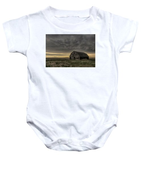 Clouds And Barn Baby Onesie