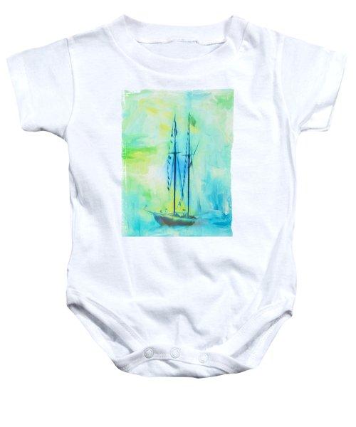 Coastal Hope - Race The Waves Baby Onesie