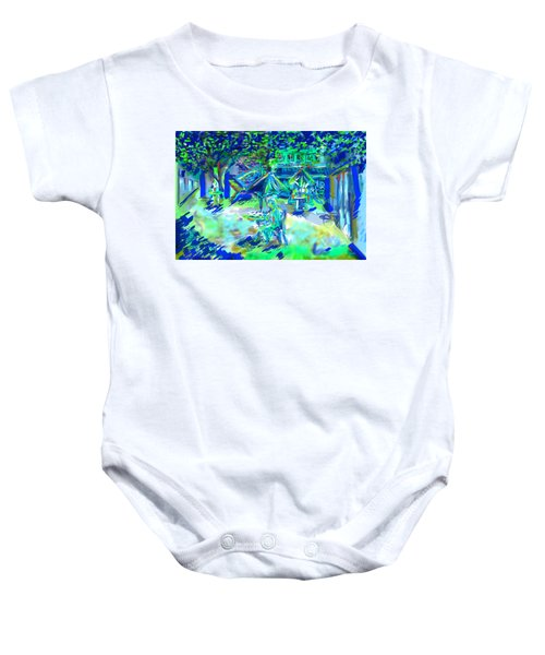 Colorful Courtyard Baby Onesie
