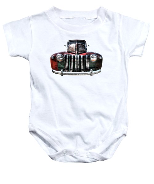 Colorful Rusty Ford Head On Baby Onesie