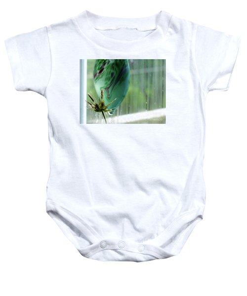 Composition In Green Baby Onesie