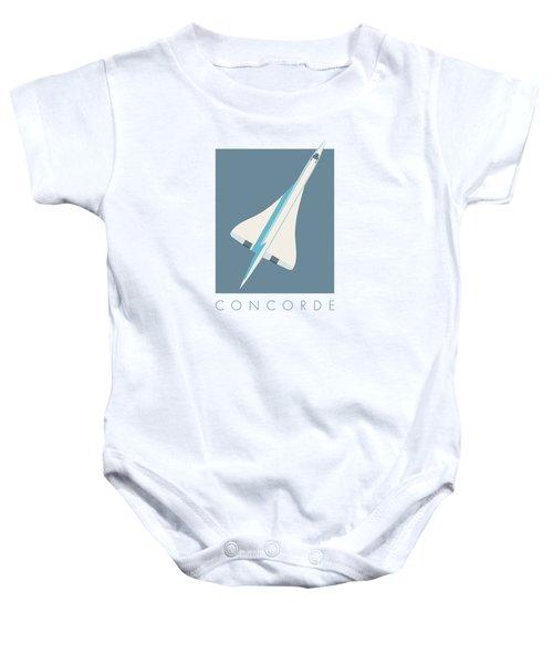 Concorde Jet Passenger Airplane Aircraft - Slate Baby Onesie