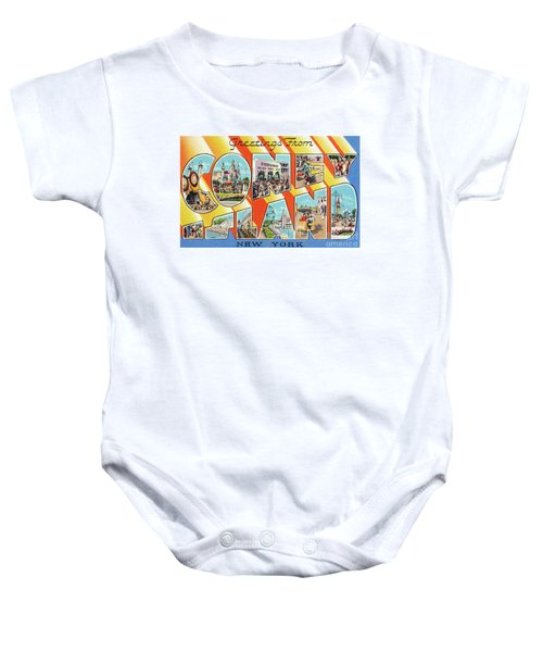 Coney Island Greetings - Version 1 Baby Onesie