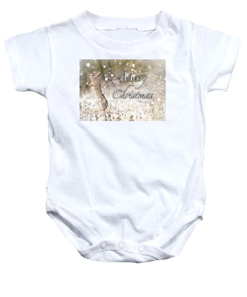 Conttontail Christmas Baby Onesie
