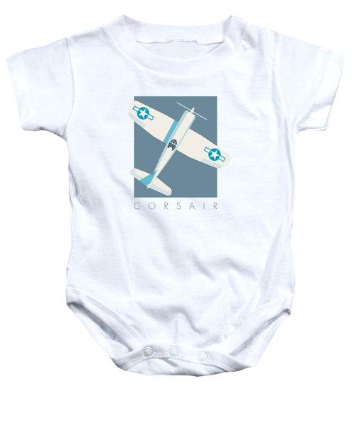Corsair Fighter Aircraft - Slate Baby Onesie