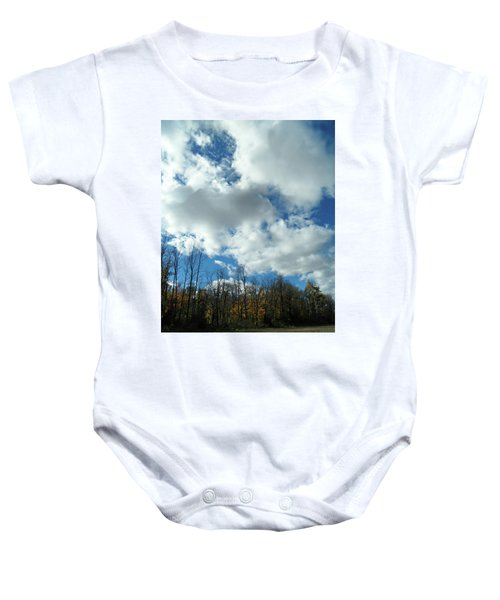 Country Autumn Curves 10 Baby Onesie