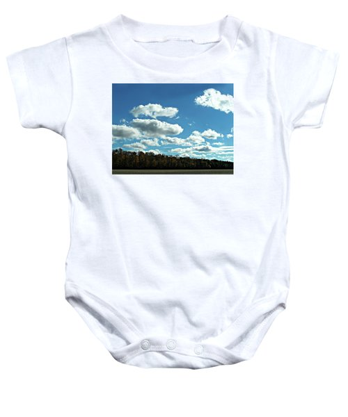 Country Autumn Curves 12 Baby Onesie