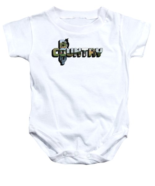 Country Boy Big Letter Baby Onesie