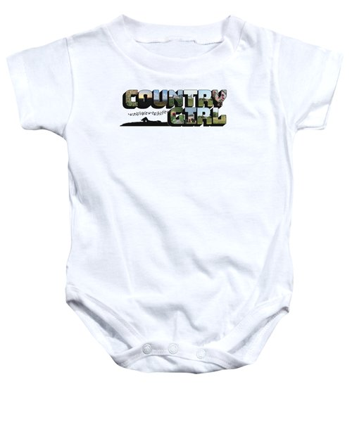 Country Girl Big Letter Baby Onesie