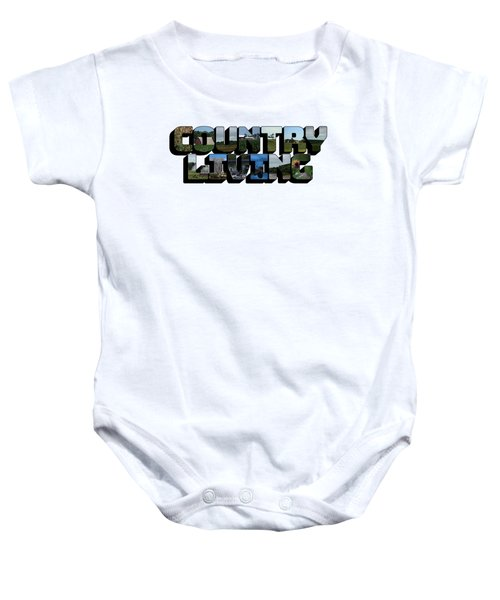 Country Living Big Letter Baby Onesie