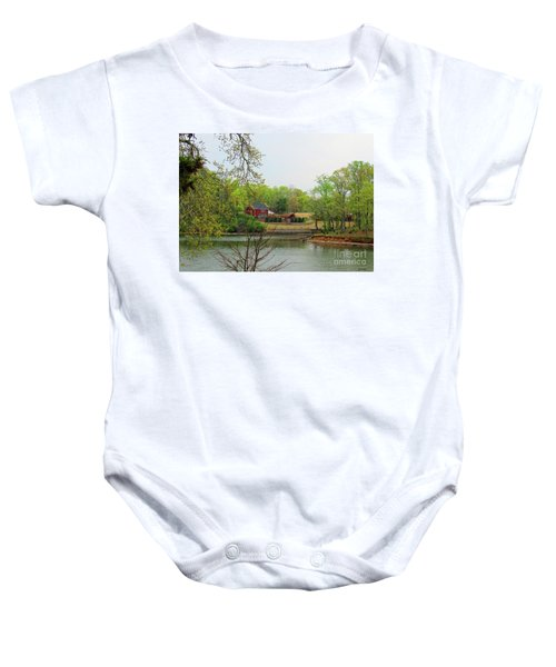Country Living On The Tennessee River Baby Onesie