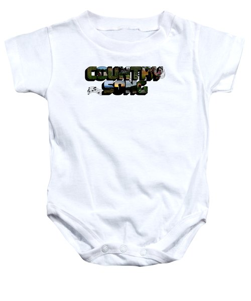 Country Song Big Letter Baby Onesie