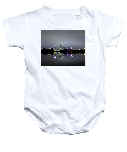 Dallas Texas Cityscape River Reflection Baby Onesie