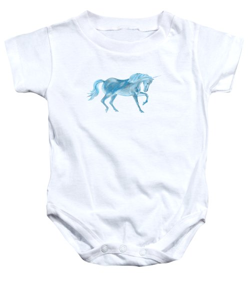 Dancing Blue Unicorn Baby Onesie