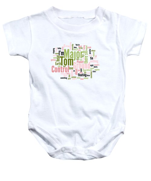 a21a1ae38 David Bowie - Space Oddity Lyrical Cloud Baby Onesie