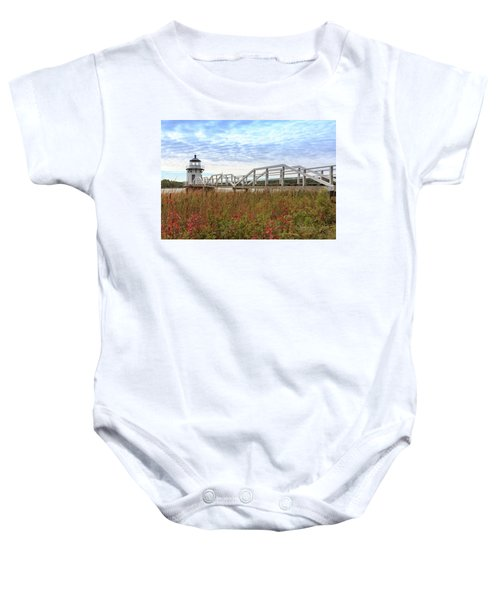 Doubling Point Lighthouse In Maine Baby Onesie