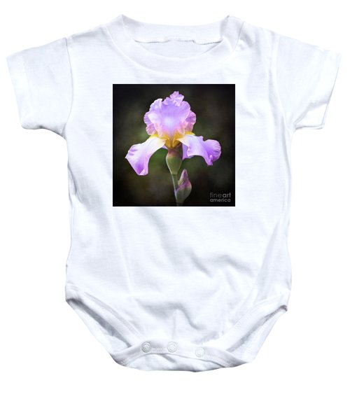 Dramatic Purple Iris Baby Onesie